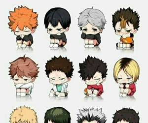 haikyuu, anime, and chibi image