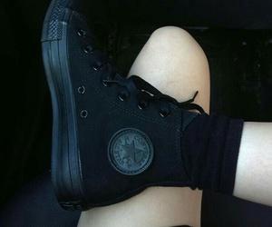 black, converse, and shose image
