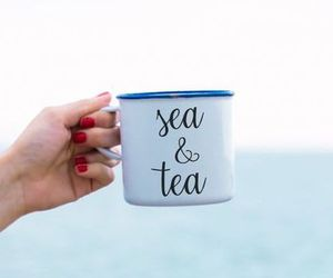 sea, photography, and tea image