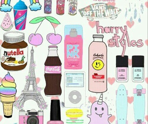 Collage, pink, and tumblr image