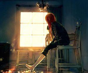 art, girl, and windows image