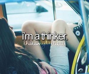 personality, thinking, and justgirlythings image