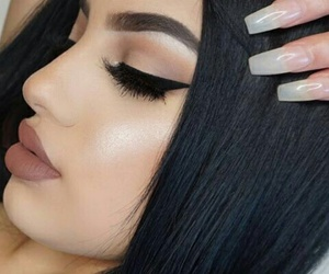 makeup, lips, and nails image