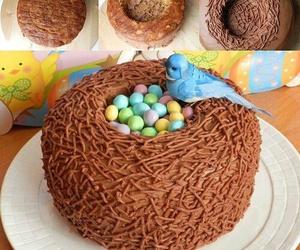 cake, bird, and diy image