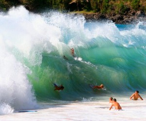 summer, wave, and boy image