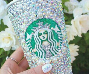 starbucks, diamond, and coffee image