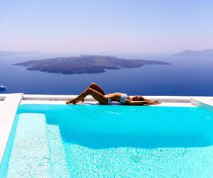 summer, travel, and bikini image