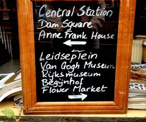 amsterdam, anne frank, and blackboard image