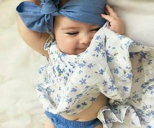 azul, bebé, and hermosa image