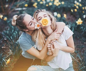 best friends, girls, and friends image