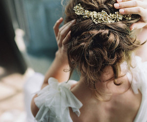 hair, princess, and wedding image