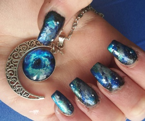 blue, galaxy, and gg image