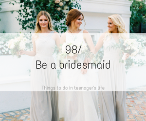 bridesmaid, wedding, and beautiful image