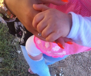 baby, hands, and pink image