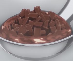 anime, cooking, and anime food image