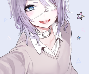Anime Girl Blue Eyes And Selfies Image