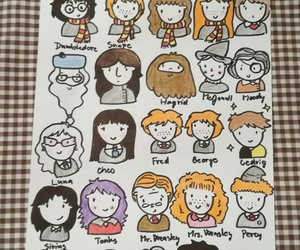 characters, doodle, and harry potter image