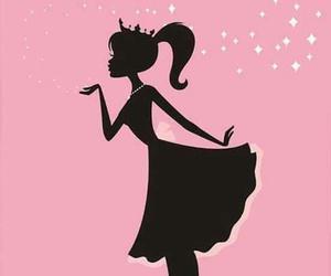 pink, princess, and wallpaper image