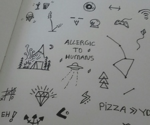 doodle, art, and diary image