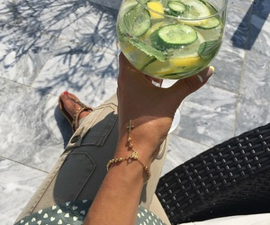 bracelet, cocktail, and green image