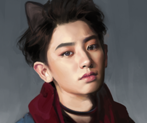 exo, chanyeol, and cat image