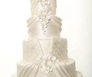 cake, sweets, and wedding image