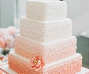 cake, wedding cake, and pink image