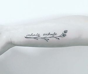 simple tattoo, alternative, and exhale image