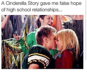 cinderella story, goals, and kiss image