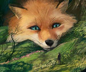 fox and art image