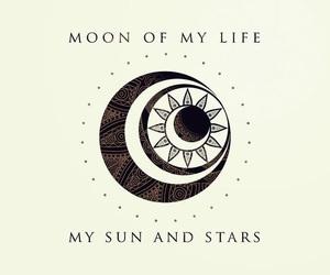 moon, stars, and got image