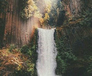 adventure, peaceful, and waterfall image