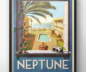 california, neptune, and poster image