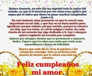 carta, frases, and cumpleaños image