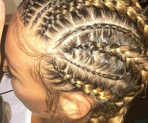 braids, ghetto, and yellow image