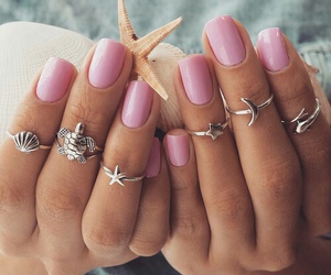nails, pink, and summer image