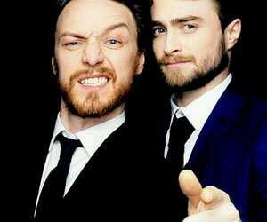 james mcavoy, daniel radcliffe, and actor image
