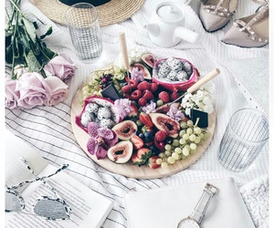 food, fruit, and roses image