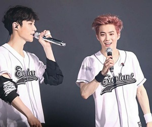 suho, exo, and lay image