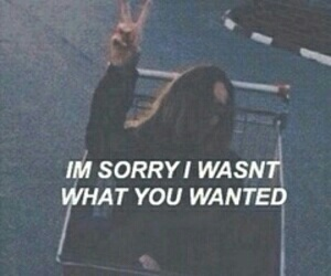 sorry, quotes, and grunge image
