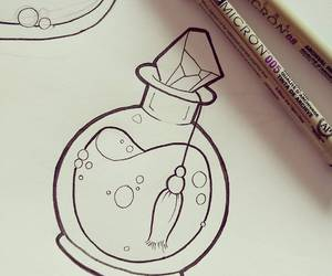 bottle, draw, and flash image