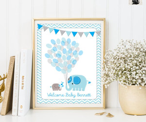 etsy, blue and gray, and baby shower games image