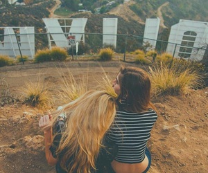 girl, friends, and hollywood image