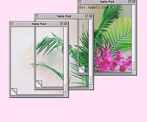 computer, flower, and old school image