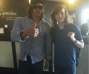 carl, norman reedus, and the walking dead image