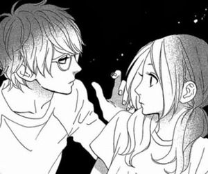 manga, hirunaka no ryuusei, and love image