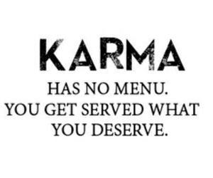 karma, menu, and quote image