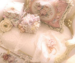 shabby chic, vintage, and pink image