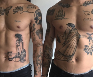 tattoo, boy, and body image
