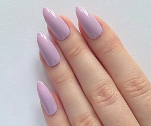 nails, purple, and pink image